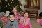 Bryant with the birthday girls.